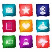 Social media icons watercolor