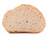 pic of hunk  - Hunk or slice of fresh white bread isolated on white background cutout - JPG