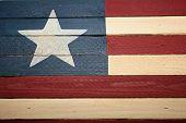 Americana Wood Flag