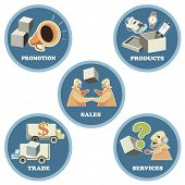 Icon set for Business Trade Commerce