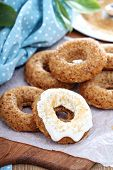 Apple baked donuts with glaze
