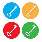Colored Key  Icon Set