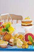 Citrus Victoria Sponge Cake with Lemon Curd