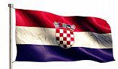 Croatia National Flag Isolated 3D White Background