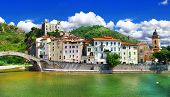 medieval villages of Italy-  Dolceacqua, Liguria