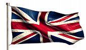 England Uk National Flag Isolated 3D White Background