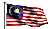 Malaysia National Flag Isolated 3D White Background