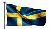 Sweden National Flag Isolated 3D White Background