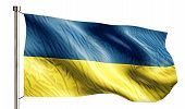 Ukraine National Flag Isolated 3D White Background
