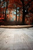 Wooden Table With Background