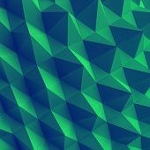 Abstract geometric polygonal background. 3d vector illustration.