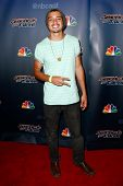 NEW YORK-AUG 20: Singer Miguel Dakota attends the backstage post-show red carpet for NBC's 'America's Got Talent' Season 9 at Radio City Music Hall on August 20, 2014 in New York City.