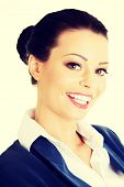 Portrait of young success businesswoman or student in elegant clothes