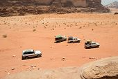 Off Road Vehicles In Desert