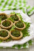 Green christmas vegetables tree appetizer
