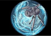 Camcorder On Abstract Background
