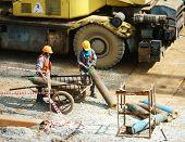 Vietnamese Construction Worker