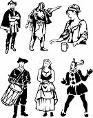 foto of courtier  - various European or American types of people 300 to 700 years in the past - JPG