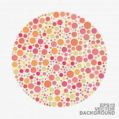 Colorful Dotted Abstract Background - Orange Circles