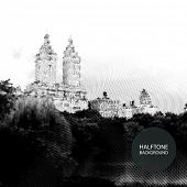 Halftone Background Design - Central Park, New York