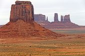 Colorful Buttes In The Desert