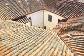 Vintage house with tile roof.