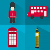stock photo of phone-booth  - Four symbols of London - JPG