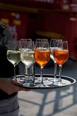 Aperitif Glasses On A Tray