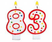 Birthday Candles Number Eighty Three