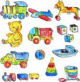 set of baby toys