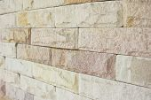 picture of brownstone  - Close up brick wall , modern brick wall background