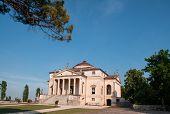 picture of vicenza  - Villa La Rotonda is a Renaissance villa just outside Vicenza in northern Italy and designed by Andrea Palladio - JPG