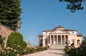 stock photo of vicenza  - Villa La Rotonda is a Renaissance villa just outside Vicenza in northern Italy and designed by Andrea Palladio - JPG