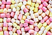 Background Or Texture Of Colorful Mini Marshmallows