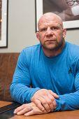 BARNAUL, RUSSIA - November 28, 2014: Jeffrey William Monson, American mixed martial artist, world champion, before the fight with Russian fighter Ilya Sheglov on November 28, 2014 in Barnaul, Russia