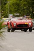 old car Ferrari 375 MM spider Pinin Farina 1953 mille miglia 2014