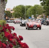 old car Jaguar C-Type 1953 mille miglia 2014
