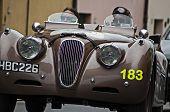 OLD CAR Jaguar XK 120 roadster sports 1950 mille miglia 2014