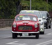 OLD CAR FIAT 1100/103 TV coupé Pinin Farina 1955 MILLE MIGLIA 2014