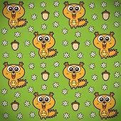 Funny squirrels pattern.