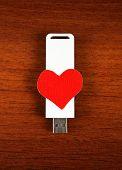 Usb Flash Drive With Heart Shape