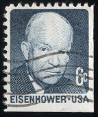Portrait Of Pres. Dwight Eisenhower. Usa Post Stamp 1970