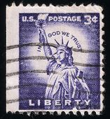 Statue Of Liberty. Usa Postage Stamp, 1954