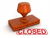 Rubber Stamp Closed (clipping path included)
