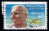 Honoring Aviation Pioneer William T. Piper. Usa Post Stamp 1991