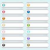 Vector button collection