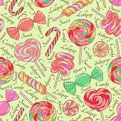 Lollipop pattern, yellow