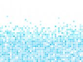 Abstract  blue mosaic background with white copy space.