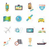 Navigation icons flat