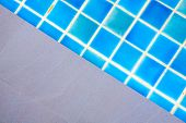 Swimming Pool Blue Water Detail In Summer Time